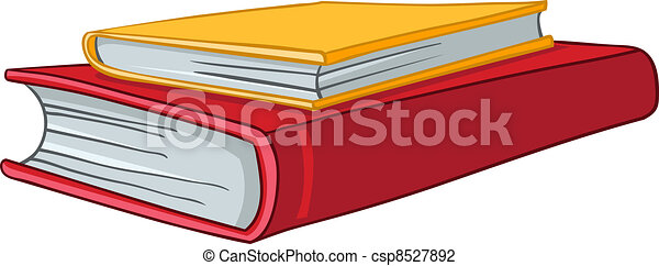 Cartoon Home Books - csp8527892