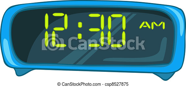 Cartoon Home Clock - csp8527875