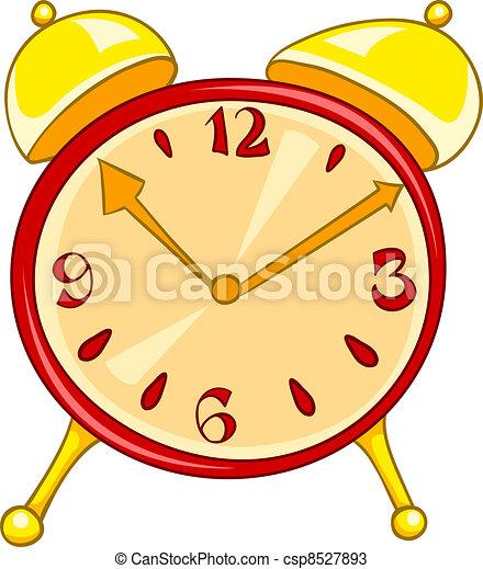 Cartoon Home Clock - csp8527893