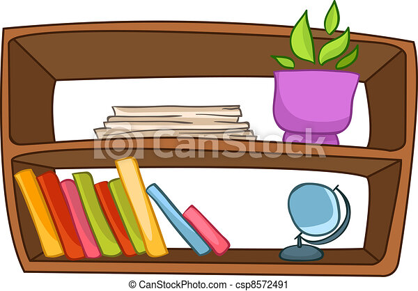 cartoon home furniture book shelf isolated on white vector clip rh canstockphoto com furniture clipart images furniture clipart 1/4 scale