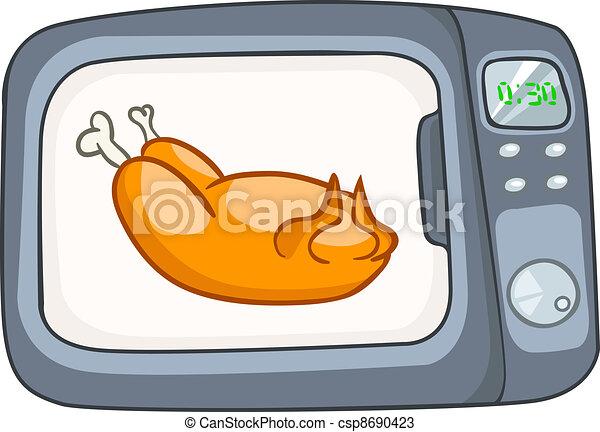 Cartoon Home Kitchen Microwave - csp8690423