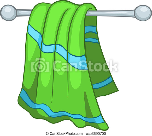 Vector Clipart Of Cartoon Home Kitchen Towel Isolated On
