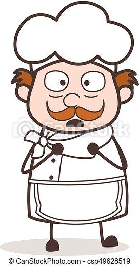 Cartoon Horrify Chef Face - csp49628519
