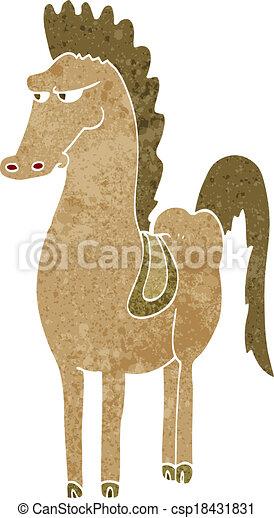 cartoon horse - csp18431831