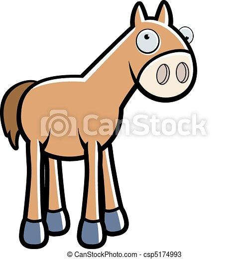 Cartoon horse a happy cartoon horse standing and smiling cartoon horse csp5174993 publicscrutiny Choice Image