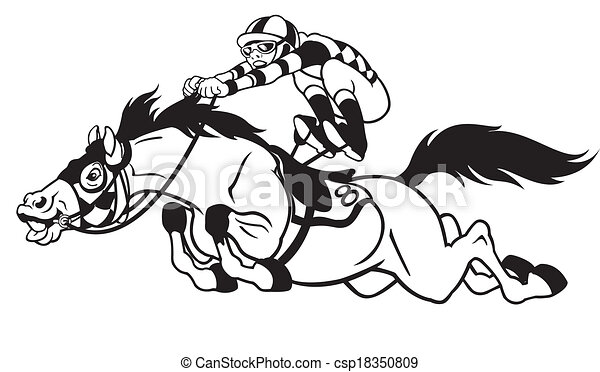 cartoon horse race - csp18350809
