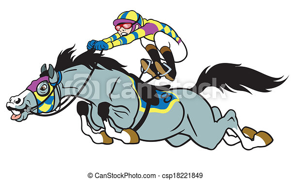 cartoon horse racing - csp18221849