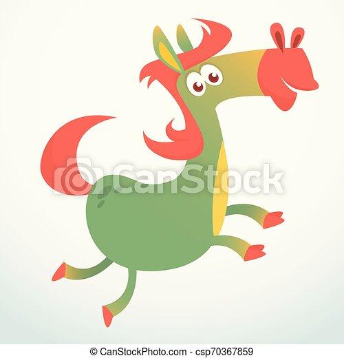 Cartoon Horse Running. Vector illustration - csp70367859