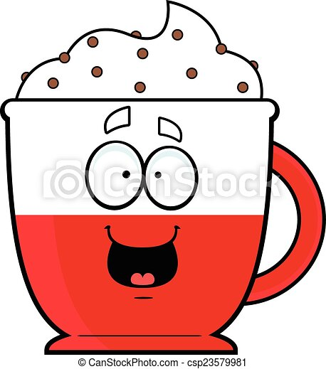 cartoon hot chocolate happy cartoon illustration of a hot rh canstockphoto com hot chocolate clipart free hot chocolate clipart black and white