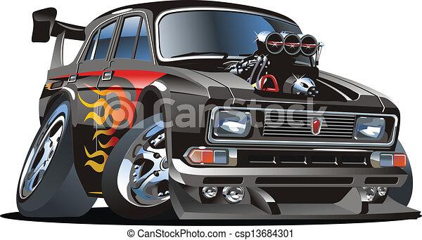 Cartoon hot rod - csp13684301