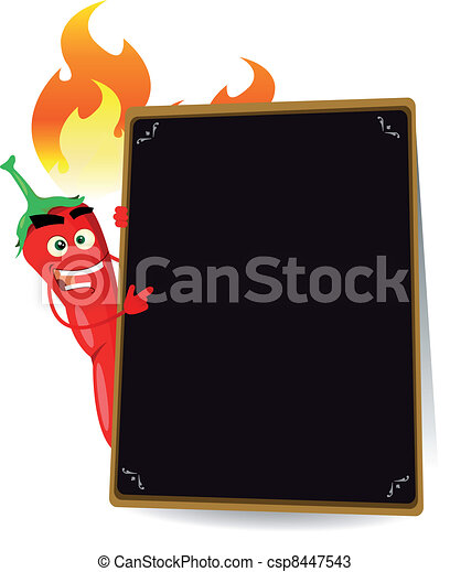 Cartoon Hot Spice Menu - csp8447543