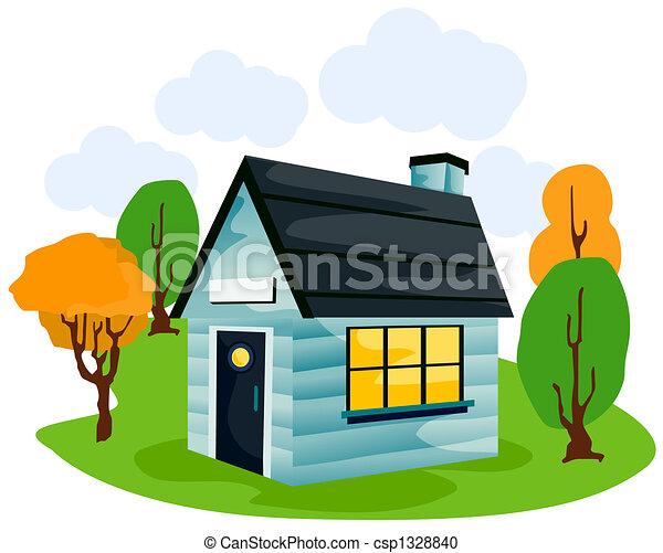 Cartoon House - csp1328840