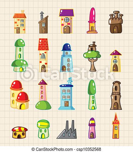 cartoon house icon - csp10352568