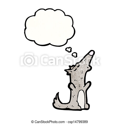 cartoon howling wolf - csp14799389