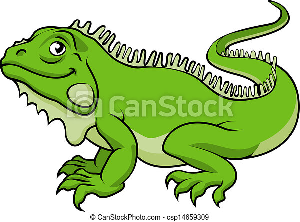 an illustration of a happy green cartoon iguana lizard vector rh canstockphoto com iguana clip art free images iguana clipart png