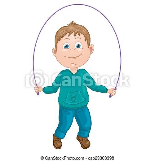 Cartoon illustration of a boy - csp23303398