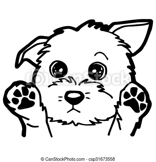 Cartoon Illustration Of Funny Dog F Image Of Cartoon Dog Coloring Page Isolated On White Vector Canstock