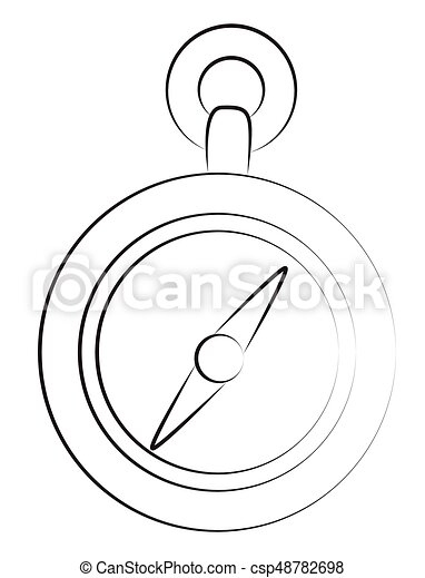 Cartoon Image Of Compass Icon Architecture Symbol Vector