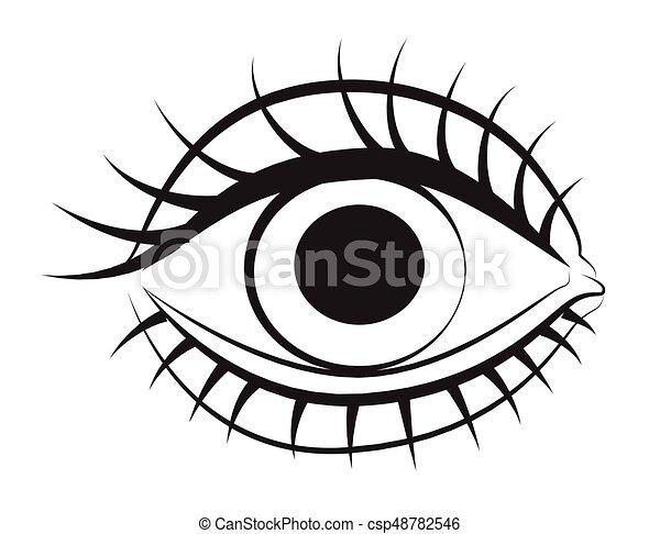 Cartoon image of eye csp48782546