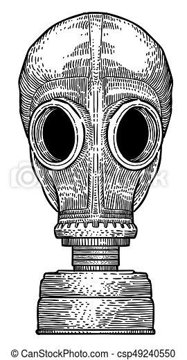 Cartoon image of gas mask - csp49240550