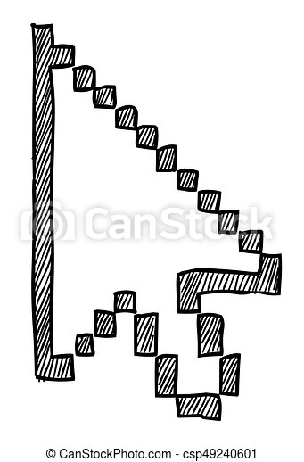 cartoon image of pointer icon cursor arrow symbol an artistic