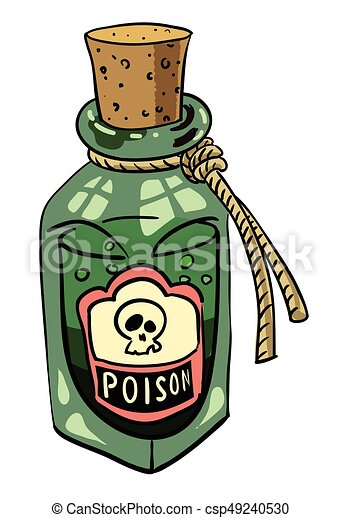 Cartoon Image Of Poison An Artistic Freehand Picture Vectors