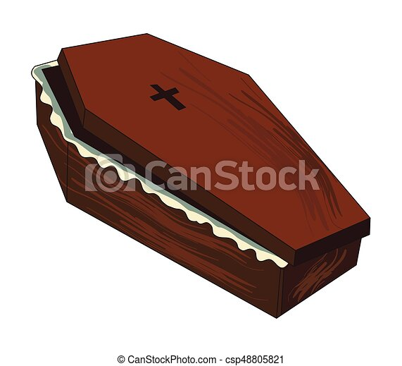 cartoon image of spooky coffin an artistic freehand picture rh canstockphoto com cartoon coffin images cartoon coffin shape