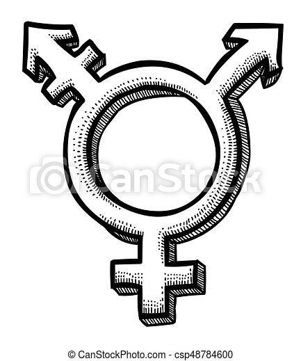 Cartoon Image Of Transgender Icon Gender Symbol An Artistic