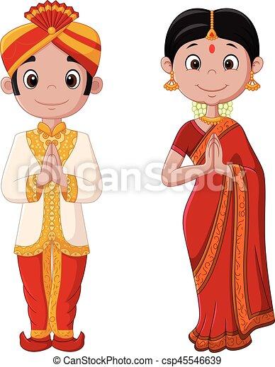 vector illustration of cartoon indian couple wearing man united logo 512x512 man united logo 512x512