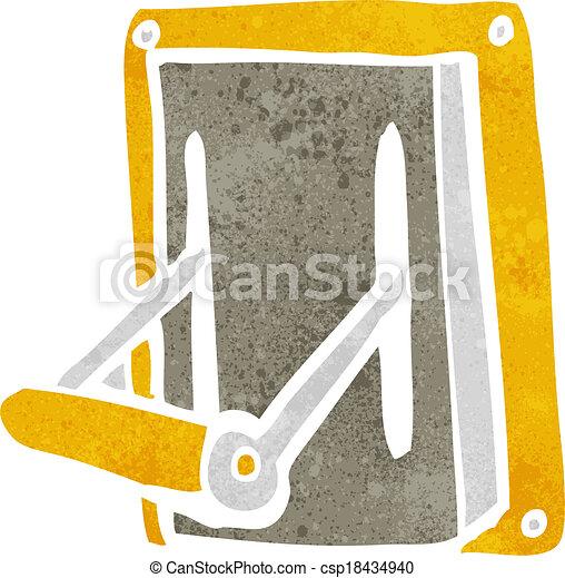 cartoon industrial machine lever - csp18434940