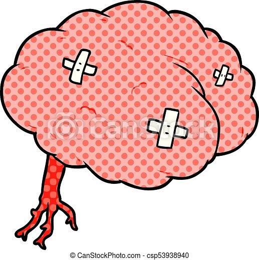 cartoon injured brain eps vector search clip art illustration rh canstockphoto com free clipart images brain free clipart brain thinking