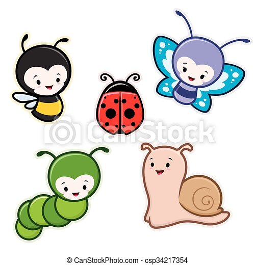 cartoon insects csp34217354 - Garden Animals