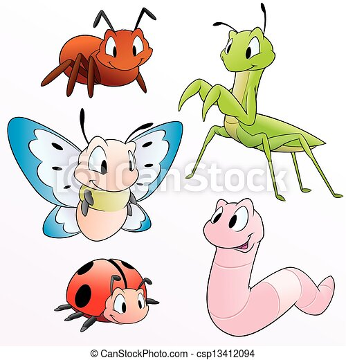 Cartoon Insects - csp13412094