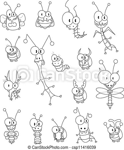 Cartoon insects - csp11416039