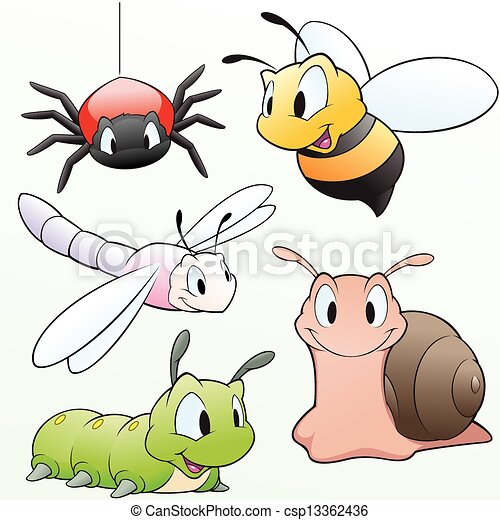 Cartoon Insects - csp13362436