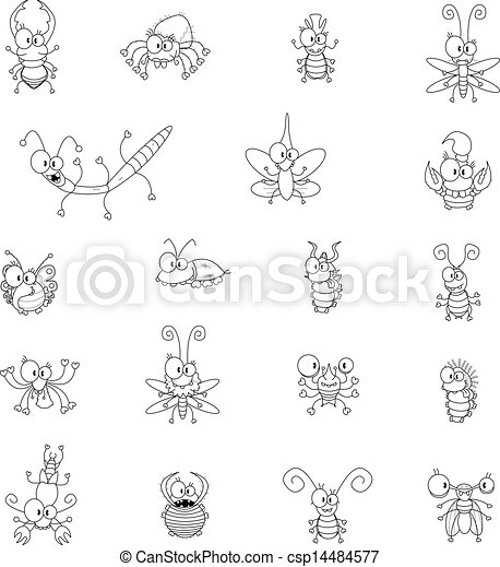 Cartoon insects - csp14484577