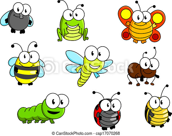 Cartoon insects set - csp17070268