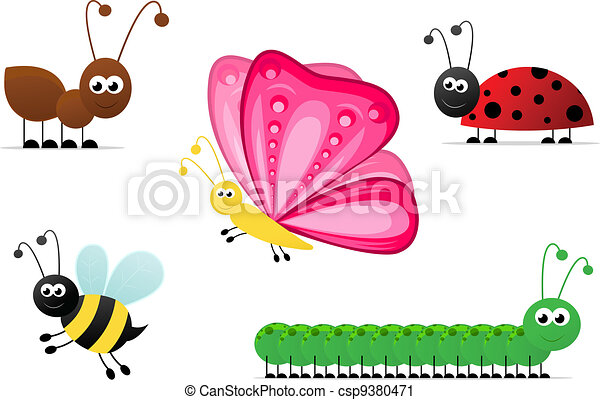 Cartoon Insects - csp9380471