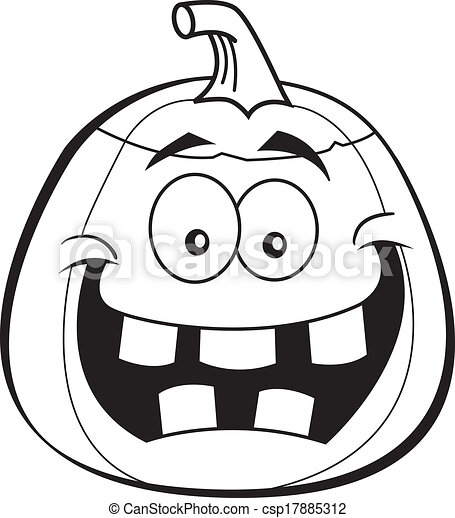 cartoon jack o lantern black and white illustration of a vector rh canstockphoto com lantern clipart black and white lantern clipart black and white