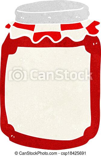 cartoon jar of preserve - csp18425691