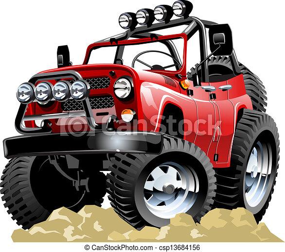 Cartoon jeep - csp13684156