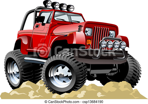 Cartoon jeep - csp13684190