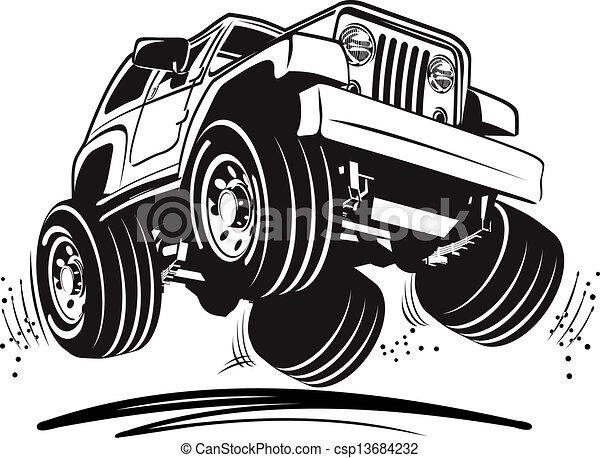 Cartoon jeep - csp13684232