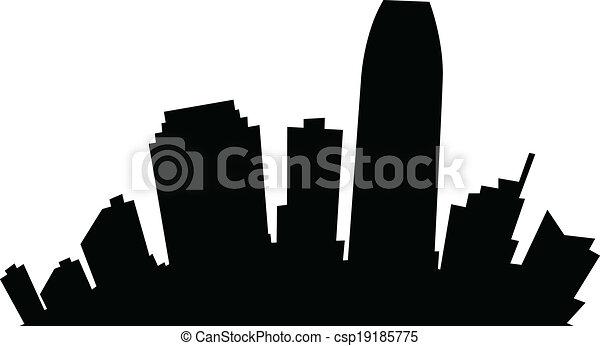 Cartoon Jersey City - csp19185775