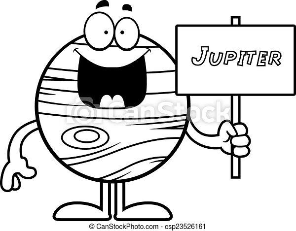 cartoon jupiter sign a cartoon illustration of the planet clip rh canstockphoto com