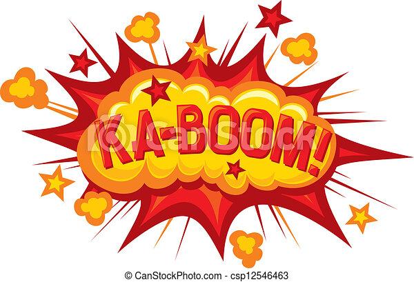 cartoon - ka-boom  - csp12546463