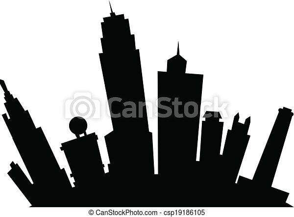 cartoon kansas city cartoon skyline silhouette of the city rh canstockphoto com kansas city skyline clipart