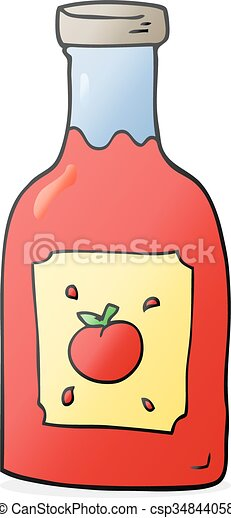 freehand drawn cartoon ketchup rh canstockphoto com ketchup clipart black and white ketchup clipart
