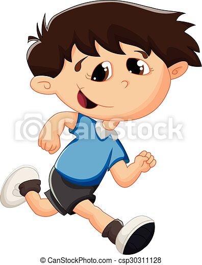 Cartoon kid running - csp30311128