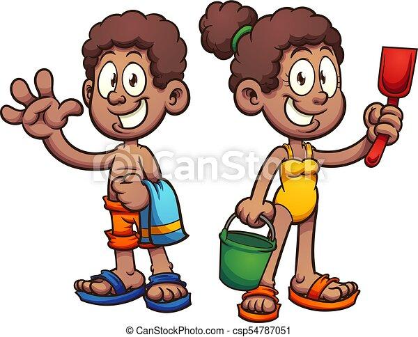 Cartoon kids - csp54787051